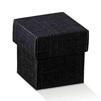 scatola con coperchio seta nero