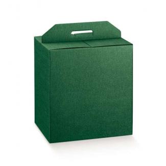 Scatole per confezioni regalo in cartone verde scuro con maniglia superiore esterna