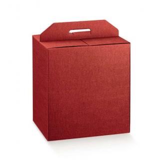 Scatole per confezioni regalo in cartone bordeaux con maniglia superiore esterna
