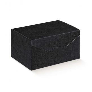 """Scatola """"segreto"""" automontante base rettangolare  in cartone nero"""