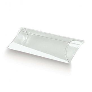 """Scatola astuccio """"tubo"""" trasparente con chiusura laterale, confezione da 10 pezzi"""