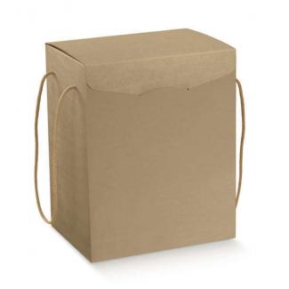 Scatola in cartone avana liscio con cordini, formato 20 x 28 altezza 35cm, cartone da 20 pezzi