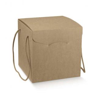 Scatola segreto avana liscio con cordino, cartone da 20 pezzi