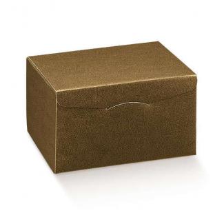 """Scatola """"segreto"""" automontante base quadrata in cartone marrone scuro"""