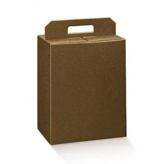 Scatole per confezioni regalo in cartone marrone scuro con maniglia superiore esterna