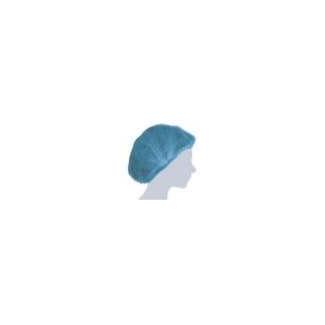 Cuffia plissè monouso TNT blu, confezione da 100 pezzi