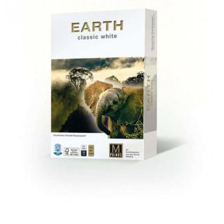 Risma di carta naturale Recycled Earth da 80 gr/mq, in formato A4, in confezione da 500 pezzi
