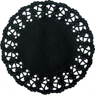 Pizzo carta nero diametro 19cm confezione da 250 pezzi