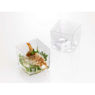 Cubo trasparente fingerfood 4.4x4.4cm confezione da 20 pezzi