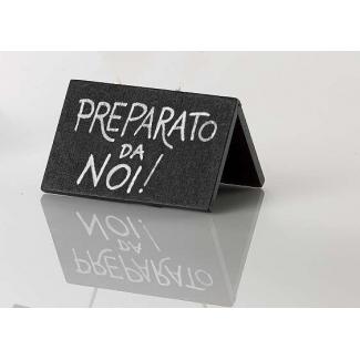 Mini lavagna in legno nero 5x7.5 cm con pennarello incluso confezione da 12 pezzi