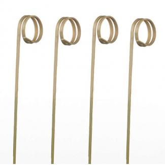 Spiedi in bamboo modello ricciolo 12 cm.confezione da 100 pezzi
