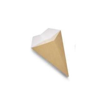 Cono antiunto porta fritti in cartoncino bio-compostabile