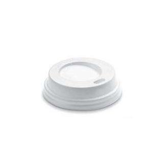 Coperchio in plastica bianca con beccuccio per bicchieri in cartoncino con capienza 4oz confezione da 100 pezzi