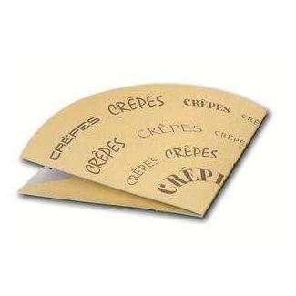 Porta crepes ripiegabile in cartoncino con stampa generica formato 15x16 cm, confezione da 100 pezzi