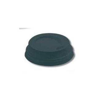 Coperchio in plastica ner con beccuccio per bicchieri in cartoncino con capienza 4oz confezione da 100 pezzi
