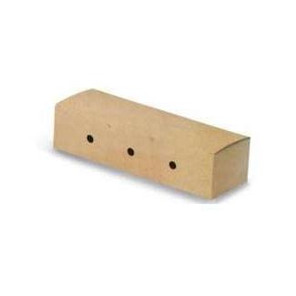 Scatola antiunto porta hot-dog in cartoncino bio-compostabile 73x230 mm, confezione da 50 pezzi