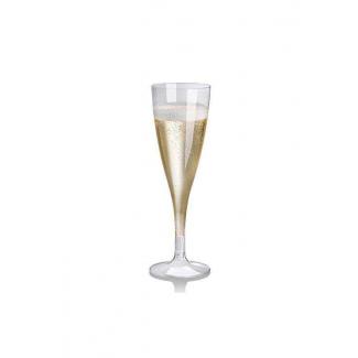 Bicchiere Flute biodegradabile in PLA 100cc confezione da 27 pezzi