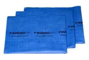 Panno in microfibra per vetri blu, 40x50 cm, confezione da 5 pezzi