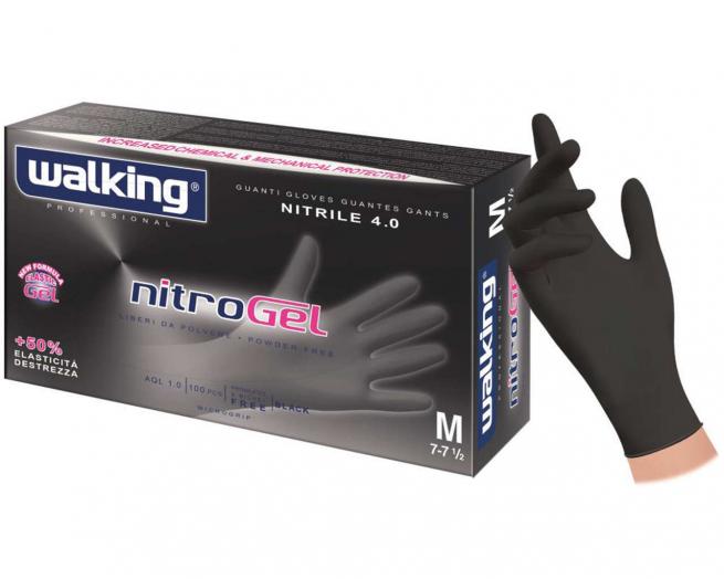 Guanto nitrile nero gr.3.8 confezioni da 100 pezzi