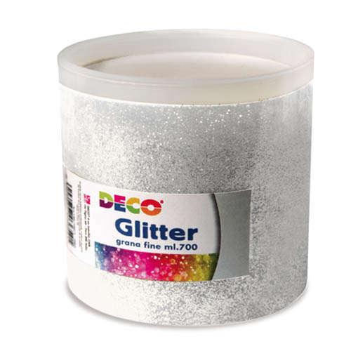 Barattolo glitter da 700ml, grana fine, tinta unita