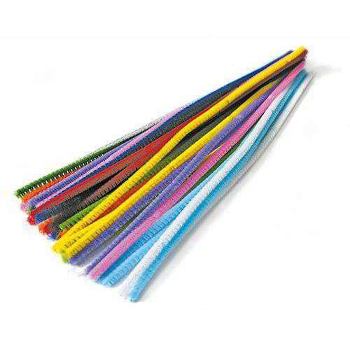 Stelo ciniglia animata, colori assortiti, confezione da 30 pezzi