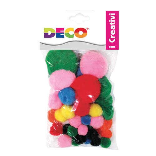 Pompon misure e colori assortiti, confezione da 40 pezzi