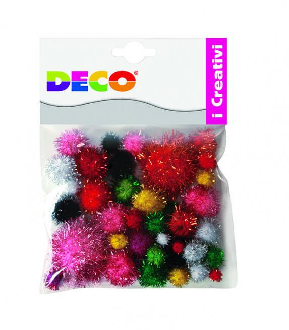 Pompon lame', misure e colori assortiti, confezione da 40 pezzi