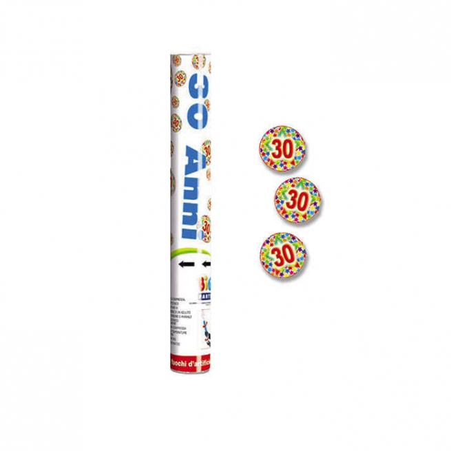 Cannone sparacoriandoli n.30 polvere di stelle alto 30cm