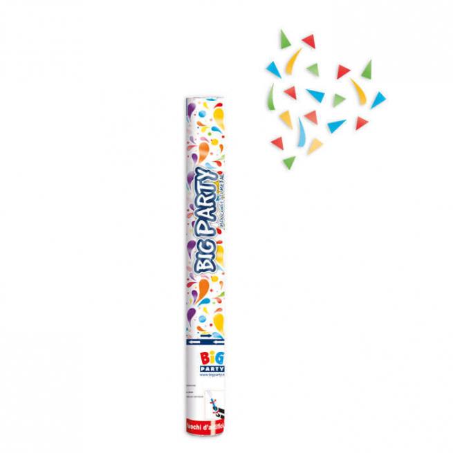 Cannone sparacoriandoli multicolor metallizzati alto 40cm