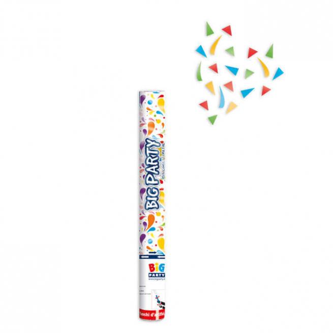 Cannone sparacoriandoli multicolor metallizzati alto 30cm