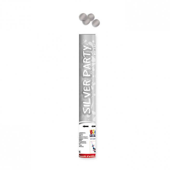Cannone sparacoriandoli argento alto 40cm