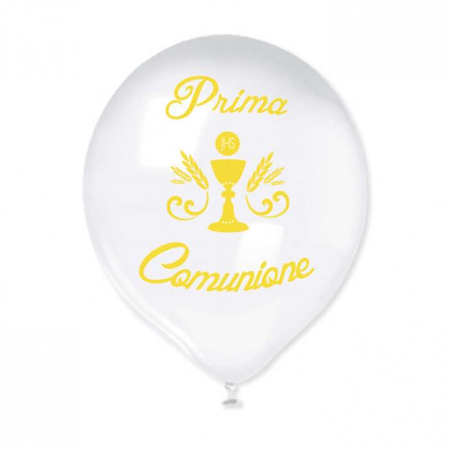 """Palloncino con sritta """"PRIMA COMUNIONE"""" in confezione da 20 pezzi"""
