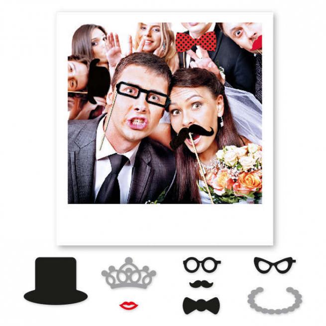 """Photo booth """"Matrimonio"""", confezione da 8 pezzi"""