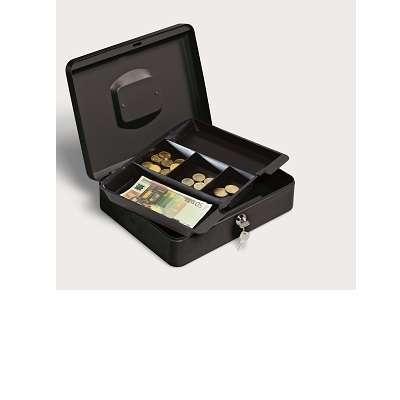 Cassetta di sicurezza in metallo nero 30x24x9 cm