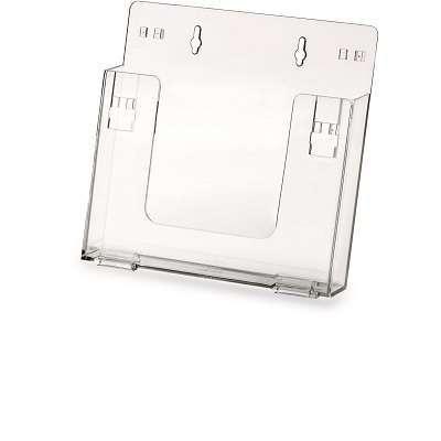 Porta depliant da appendere A4  in PVC trasparente
