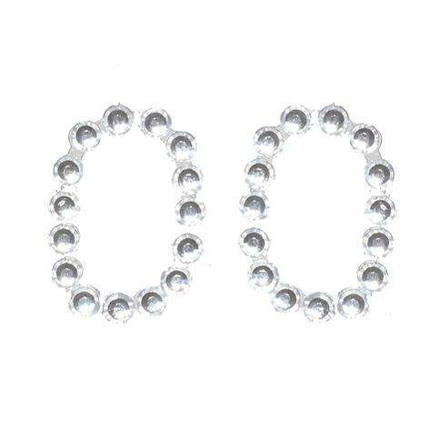 Numero autoadesivo in strass trasparenti, 13x20 mm, confezione da 25 pezzi