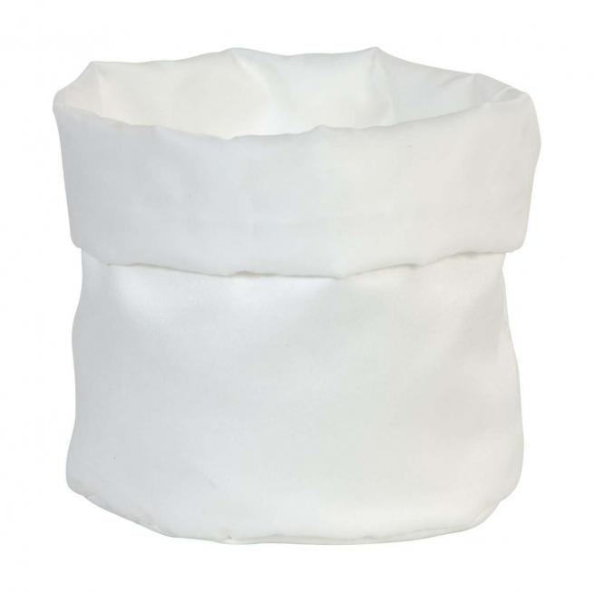 Porta confetti in raso opaco bianco cm 16 x h 24 confezione da 2 pezzi