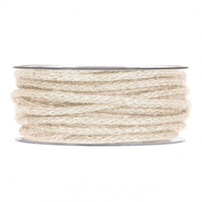 Rotolo corda animata juta bianca,  diametro mm 5 x 12 mt