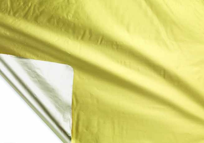 Bobina decor metallizzato HD bicolor tendence 2 lati oro/sabbia mt 1X20 mt
