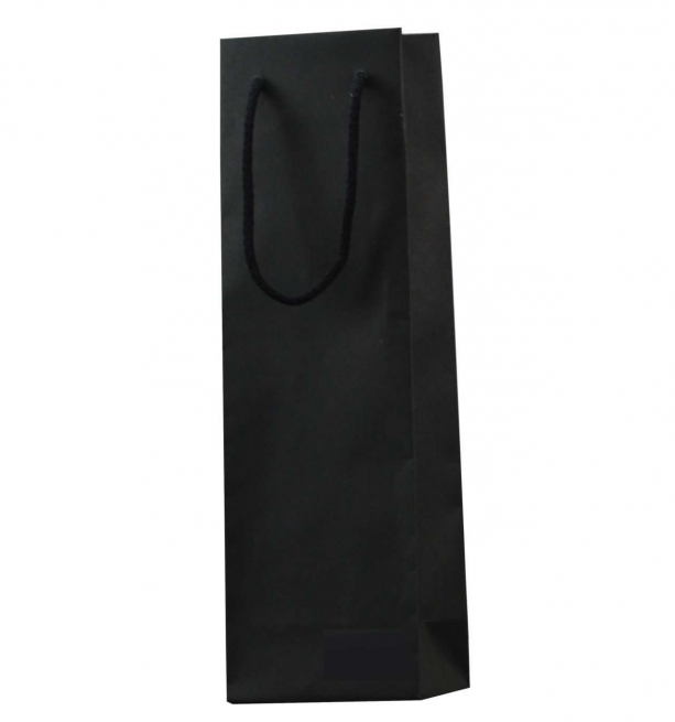 Shopper bottiglia in carta con maniglia in cordone