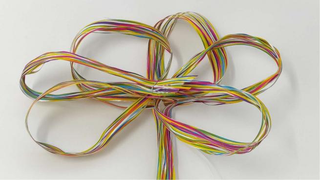 Rafia basic sveltostrip in confezione da 50 pezzi, diametro fiocco 20 cm