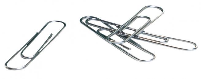 Fermaglio in metallo, confezione da 100 pezzi