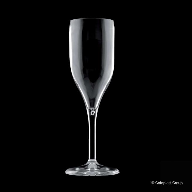 Bicchiere calice flutes vinum trasparente drink safe riutilizzabile 150cc confezione da 6 pezzi