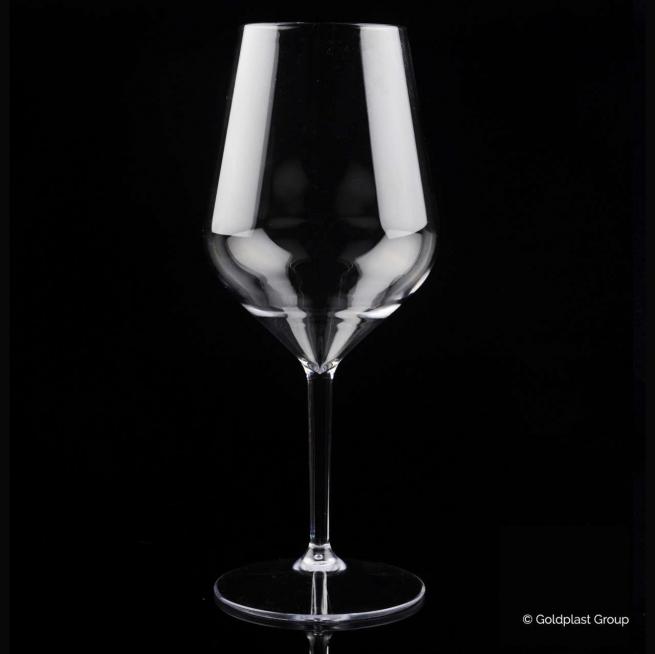 Bicchiere calice trasparente ballon tritan drink safe riutilizzabile 470cc confezione da 6 pezzi