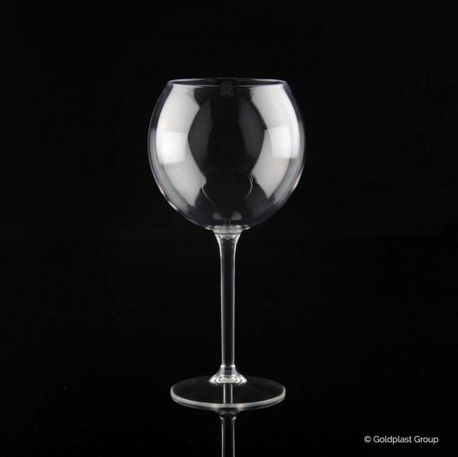 Bicchiere calice trasparente ballon tritan drink safe riutilizzabile 650cc confezione da 6 pezzi