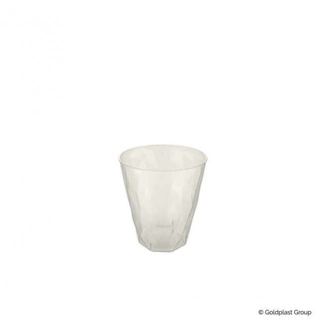 Bicchiere liquore 50cc in PS trasparente effetto ghiaccio confezione da 50 pezzi
