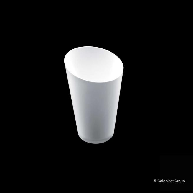 Bicchierino fingerfood conico alto PS bianco 75cc confezione da 25 pezzi