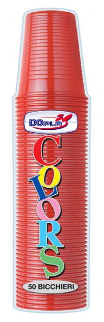 BICCHIERE DI PLASTICA ROSSO 200 CC IN CONFEZIONE DA 50 PEZZI