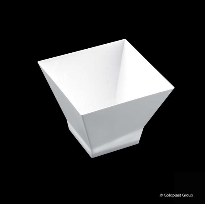 Coppetta pagoda design fingerfood bianca