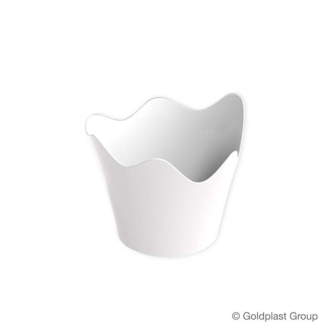 Coppetta rain design fingerfood bianca 90cc confezione da 25 pezzi